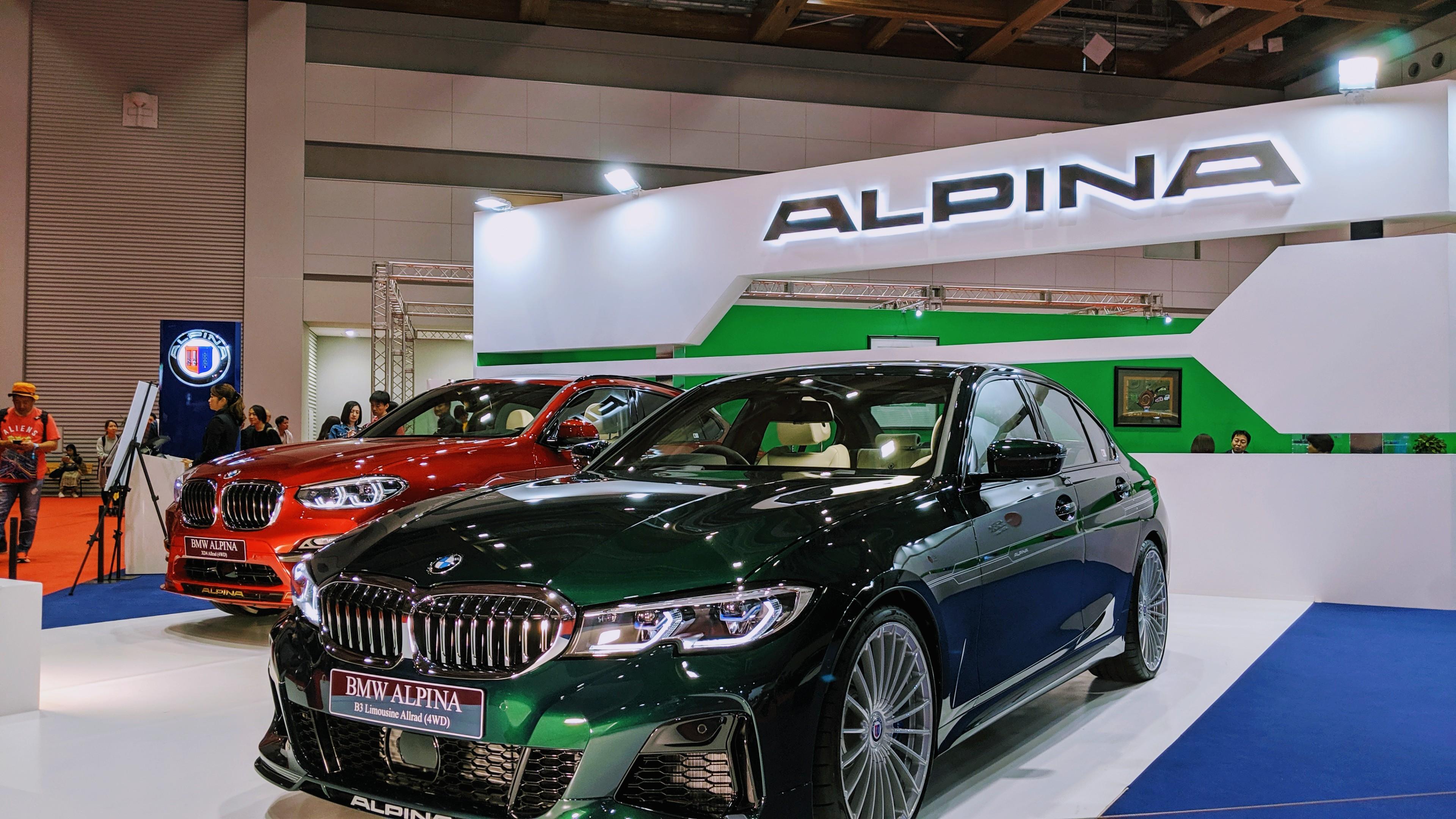 アルピナグリーンの新型B3セダン